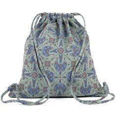 Denim - Drawstring Backpack - Dream