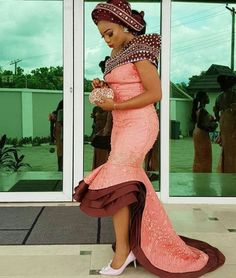 African Wedding Bants and African fashion - Reny styles African Lace Styles, African Lace Dresses, Latest African Fashion Dresses, African Dresses For Women, African Print Fashion, African Attire, African Wear, African Style, Lace Dress Styles