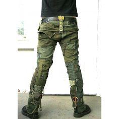 Bone Black Army Pants