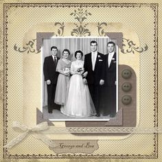 George and Bea ~ Heritage digi wedding page.