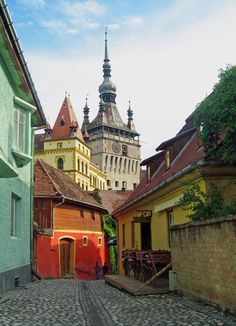 Romania Travel Inspiration - The pearl of Transylvania - Sighisoara, Mures, Romania, (by holmertz). Places Around The World, Oh The Places You'll Go, Travel Around The World, Great Places, Around The Worlds, Viva Color, Beautiful World, Beautiful Places, Europe Centrale