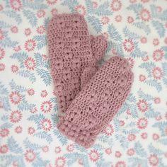 ByHaafner, crochet, Japanese crochet pattern, mittens, pastel