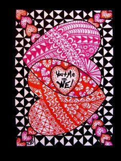 IrelandBrady - Musings To Ponder: Two more Zentangle Valentine's!