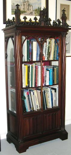 gothic revival bookcase