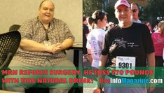 Man refuses surgery, He Loss 270 Pounds With This Natural Drink Man lehnt die Operation ab, er verli Healthy Man, How To Stay Healthy, Healthy Living, Healthy Drinks, Healthy Style, Healthy Shakes, Fruit Drinks, Healthy Juices, Healthy Foods