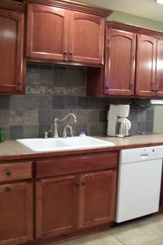 cabinet above sink & Kitchen sinks with no windows