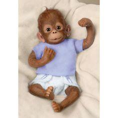 Ashton Drake So Truly Real Baby JoJo Baby Monkey Doll Simian Orangutan 16   eBay