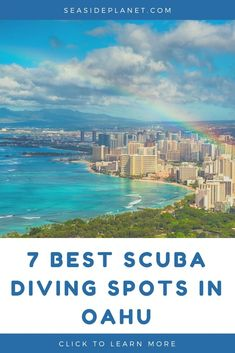 Are you heading to Oahu for your next scuba diving adventure? Then you won't want to miss these 7 TOP dive spots that make Oahu diving a dream! Scuba Diving Oahu, Scuba Diving Gear, Cave Diving, Snorkeling, Maui Vacation, Hawaii Travel, Scuba Diving Certification, Cozumel, Cancun