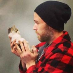 And that's him with a goddamn kitten. You're welcome anyone with eyes and feelings.
