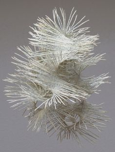 'Wild lace' from the Moving series by Germany-based Swiss artist Valérie Buess. Recycled books, 33 x 26 x 29 cm.Treehugger posted about an amazing paper artist yesterday – I had to share her here as well – I hope you like Valerie Buess, a Swedis Book Sculpture, Abstract Sculpture, Paper Sculptures, Mobile Sculpture, Architecture Origami, Libros Pop-up, 3d Art, Paper Artwork, Paperclay