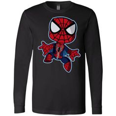 Spiderman Chibi Long Sleeve The Simpsons, Size Chart, Chibi, Spiderman, Husband, Graphic Sweatshirt, Bugs Bunny, Sweatshirts, Bart Simpson