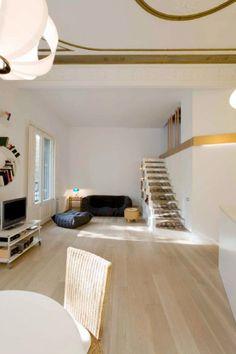 Rediseño de un piso del siglo XIX en Barcelona, por Miel Arquitectos.5 Apartamento en Barcelona salon (2)