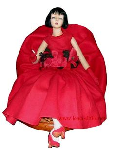 A Lenci Louise Brooks boudoir doll. If a doll could aspire to be louche, this one achieves it.