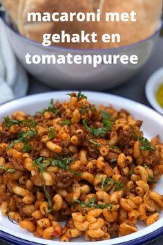 Macaroni Spaghetti, Pasta Recipes, Bread Recipes, Dutch Recipes, Chana Masala, Good Food, Food And Drink, Healthy Recipes, Homemade