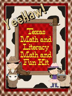 Texas Western Rodeo Matha nd Literacy Fun Kit ( Printable Bundle) product from Mrs-TL-Garcia on TeachersNotebook.com