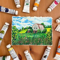 'The good old barn'. A6 size, 10x15cm, [Available, $35, DM to make it yours] This reminds me of the time we were road tripping somewhere in… Watercolor Landscape, Landscape Paintings, Landscapes, American Barn, Things To Think About, Good Things, A6 Size, Mini Paintings, Gouache Painting