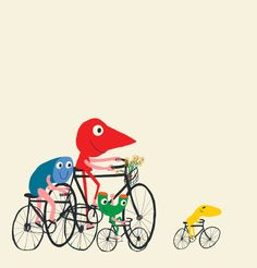 bike is life // art print Bike Illustration, Character Illustration, Kids Prints, Art Prints, Bicycle Print, Cycling Art, Bike Art, Illustrations, Tricks