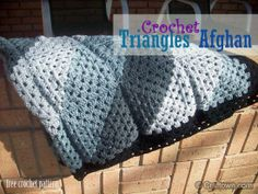 Free Crochet Pattern - Triangles Afghan