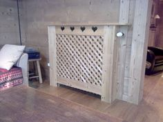 cache radiateur classique en m dium mdf blanc satin. Black Bedroom Furniture Sets. Home Design Ideas