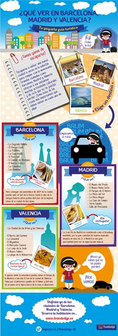 Qué ver en Barcelona - Madrid y Valencia Valencia, Places To Travel, Travel Destinations, Spanish Culture, Travelling Tips, Traveling, Voyage Europe, Spanish Lessons, Spanish Class