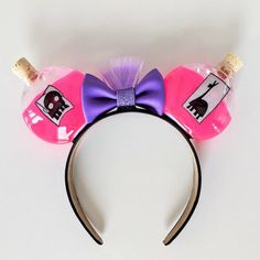 Emporer's New Groove Poison & Extract of Llama Minnie Mickey Mouse Ears - Diy disney ears - Disney Disney Ears Headband, Disney Headbands, Ear Headbands, Disney Minnie Mouse Ears, Diy Disney Ears, Diy Mickey Mouse Ears, Micky Ears, Disneyland, Estilo Disney