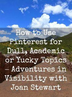 How to best use #Pinterest for dull or academic topics. Follow Pinterest FAQ Pins curated by Joseph K. Levene, Principal, Joseph K. Levene Fine Art, Ltd. | #JKLFA | http://pinterest.com/jklfa/pinterest-faq/