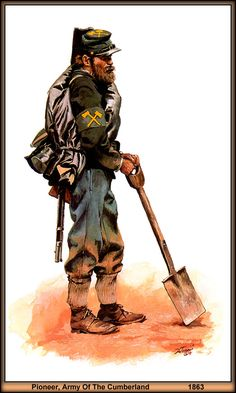 Pionier de l'armée du Cumberland 1863.