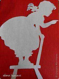 Картина, панно Вырезание, Вырезание силуэтное, Вытынанка: Дети Бумага День защиты детей. Фото 4
