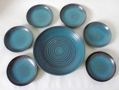 Hildegard Delius Hameln 7x Schale Keramik ceramic bowl pottery Bauhaus Art Deco