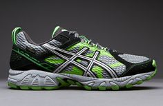 Asics Gel Trail Lahar 5 G-TX - Mens Running Shoes - Charcoal-Silver-Green