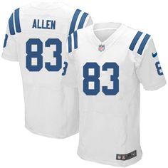 Nike Men Dwayne Allen Jersey Indianapolis Colts #83 Elite White NFL Jersey Sale