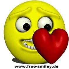 Smiley | Free animated Heart Smiley | Heart Smileys gratis Download