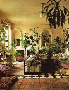 観葉植物でリラックスできるインテリア空間のいろいろ♫ | folk