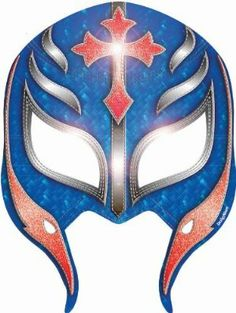 """WWE Paper Masks 8ct by Amscan. $6.96. Includes one package of 8.. Includes (8) paper masks (4 purple and 4 blue masks). Each measures 6"""" wide x 9"""" high with an elastic string on the back. One size fits most kids. This is an officially licensed WWE product."""