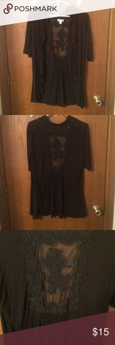 Black Camisole Shear Back Beautiful. Nothing wrong with it. Gently used Tops Camisoles