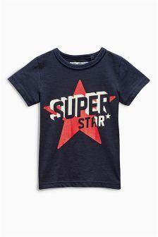 Navy Superstar T-Shirt (3mths-6yrs)