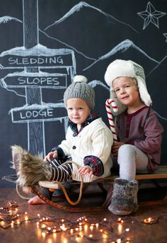 Love this idea for a Christmas card...she brings in fake snow for some really fun photos too!