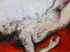 """""""Il deposto sul tappeto rosso"""", mista su cartone 70 x 100"""