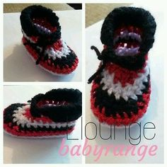 hand knitted baby crib booties