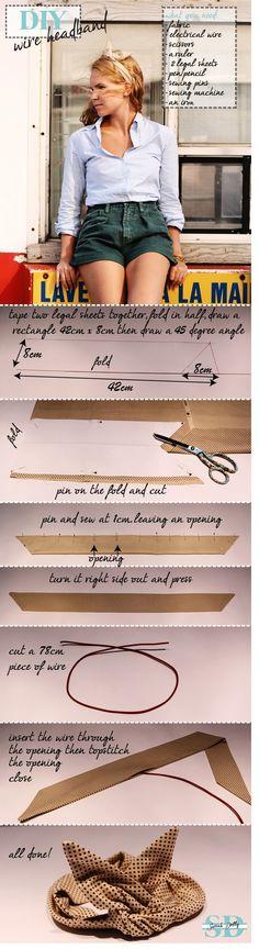 DIY: Wire Headband #DIY #wireheadband #twistheadband