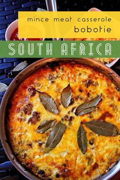 South Africa – Bobotie, Meat Pie – Who Noms the World South African Dishes, South African Recipes, Ethnic Recipes, Bobotie Recipe South Africa, Beef Recipes, Healthy Recipes, Mince Meat, Bbc Good Food Recipes, Ground Beef