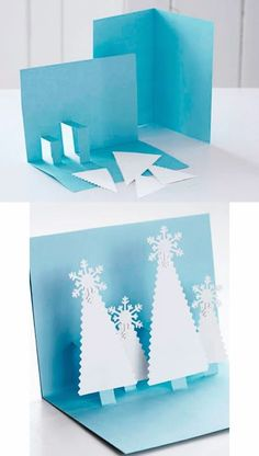 In this DIY tutorial, we will show you how to make Christmas decorations for your home. The video consists of 23 Christmas craft ideas. Pop Up Christmas Cards, Christmas Pops, Christmas Card Crafts, Homemade Christmas Cards, Pop Up Cards, Christmas Activities, Handmade Christmas, 242, Card Tutorials