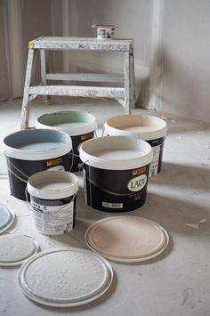 Fargepalett til nytt hus med Jotun Lady 2019 – Studio Lindhjem Metallic Luster, House Colors, Fabric Design, Design Trends, Inspiration, Furniture, Home Decor, Kitchen, Entrance Halls