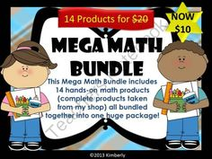 MEGA BUNDLE Mega Math Bundle - MEGA BUNDLE Mega Math Bundle-Includes 14 Hands-On Math Products.  A GIVEAWAY promotion for MEGA BUNDLE Mega Math Bundle-Includes 14 Hands-On Math Products (Zip File) NOW $10 from By Kimberly on TeachersNotebook.com (ends on 2-7-2014)