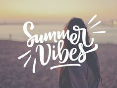summer quotes Summer Vibes by Ian Barnard Summer Calligraphy, Summer Typography, Lettering Design, Brush Lettering, Logo Design, Graphic Design, Summer Vibes, Summer Fun, Summer Days