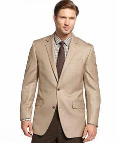 Michael Michael Kors Jacket, Solid Silk-Blend Herringbone Sportcoat