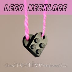lego heart necklace party favor for girls