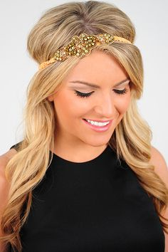 Spice It Up Headband: Tan/Gold