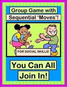"Add some ""moves"" and build SOCIAL SKILLS! Play a GROUP GAME and recognize everyone in your class! Use the 4 ""WORDS FOR MOVING"" POSTERS to practice those SEQUENTIAL MOVEMENTS. Make a Shaker Craft to go with an easy and funny SONG.  (10 pages) Making each kid feel valued with Joyful Noises Express TpT! $"