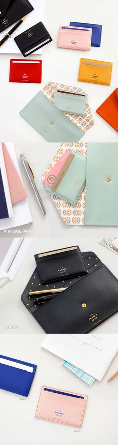 Super chic and classy! The La Chance Passe Flat Card Pocket is the perfect sleek accessory for everyday and travel! This has 2 front card slots and 1 back card slot where you can store your ID, transportation card, credit card, or membership cards. Have an overstuffed wallet like I do? Downsize to this thin card holder and declutter your life! You can minimize what you carry and put the most important necessities in here and be on your way! Check out all the colors and find one that suits…
